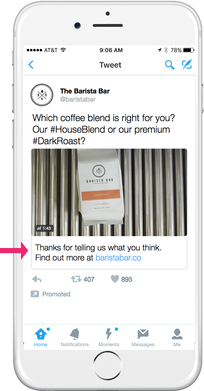 thanks conversational ads twitter