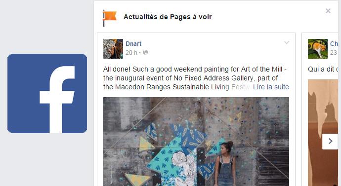 actualités pages facebook