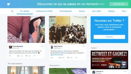 Twitter : une nouvelle page d'accueil pour les utilisateurs non connectés !