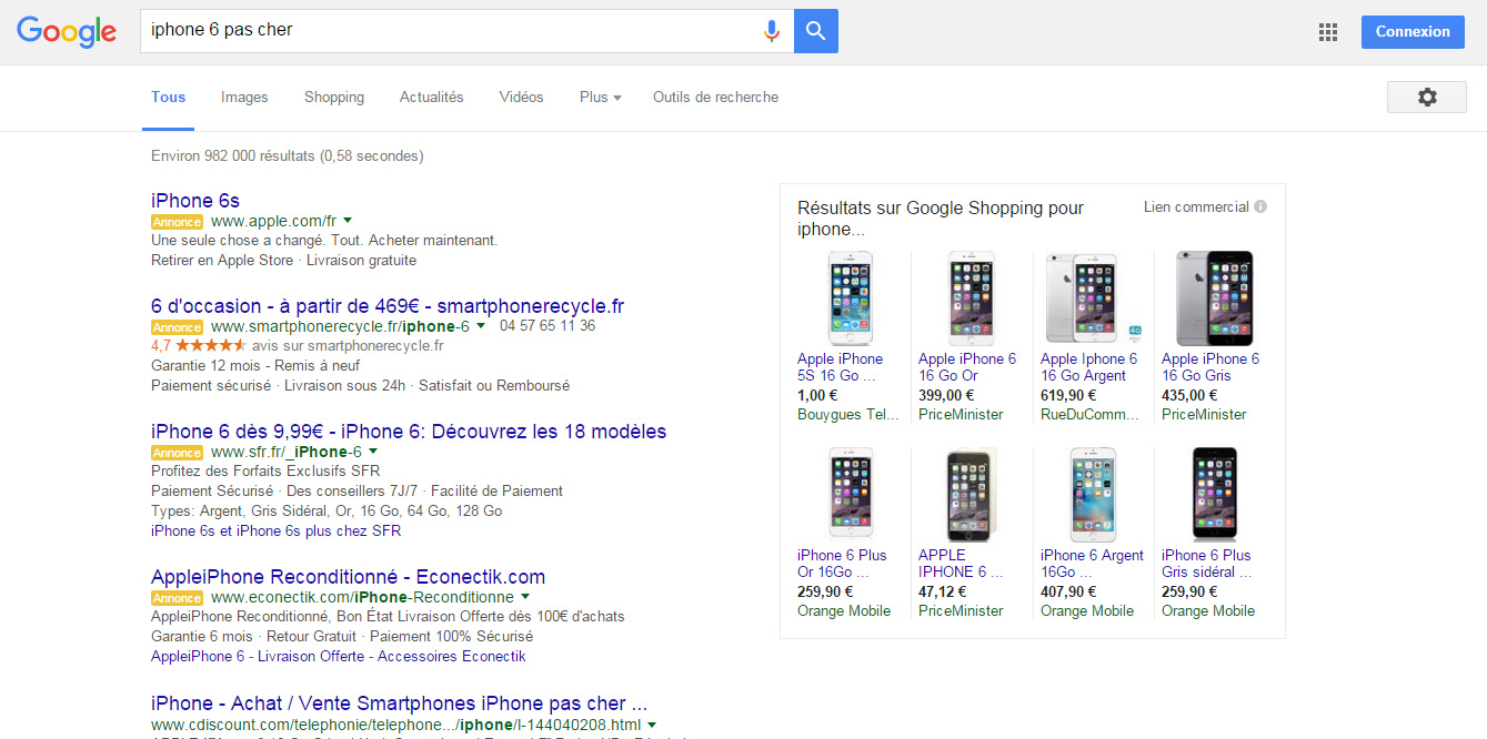 iPhone 6 pas cher google