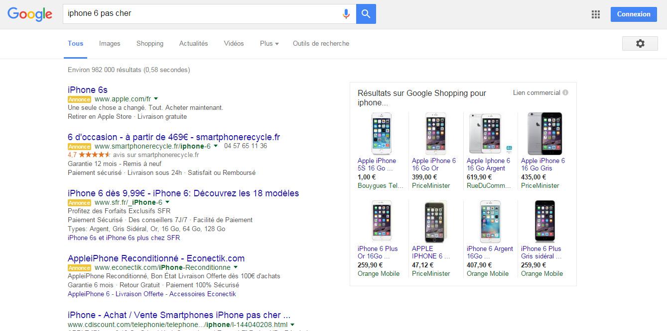 iPhone 6 pas cher google