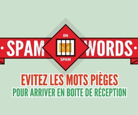 Infographie sur les Spam Words à éviter en Emailing !