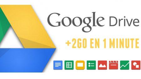 Voici comment augmenter votre stockage Google Drive de 2Go en 1 minute !