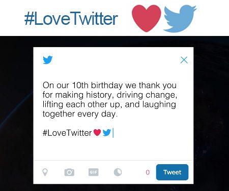 #LoveTwitter : pour ses 10 ans, Twitter remercie ses utilisateurs en vidéo !