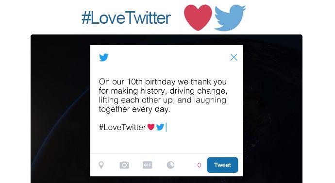 10 ans Twitter Love Twitter