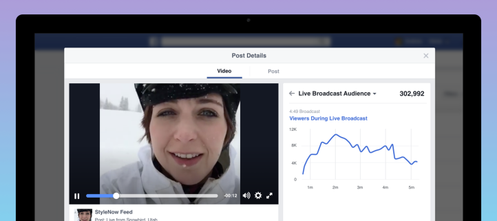 audience globale facebook live