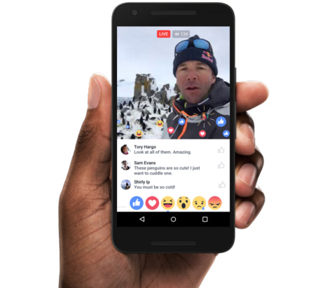 facebook live video partage