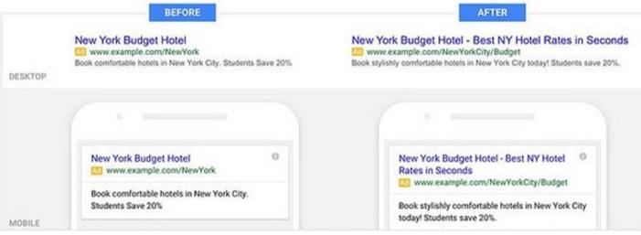 google adwords nouveau format