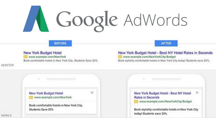 nouveau format Google Adwords