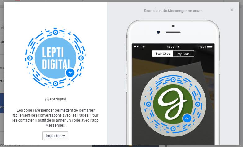 qr code facebook messenger