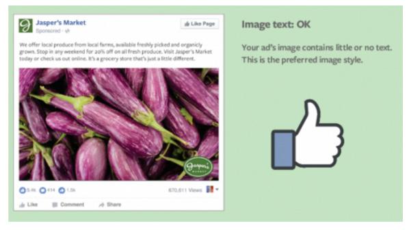 regle texte ok facebook