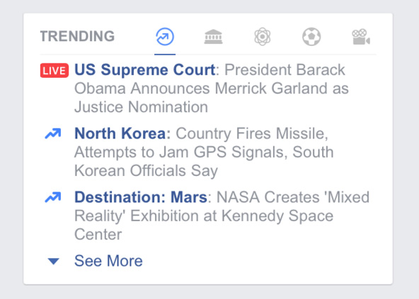 trending vidéo facebook live