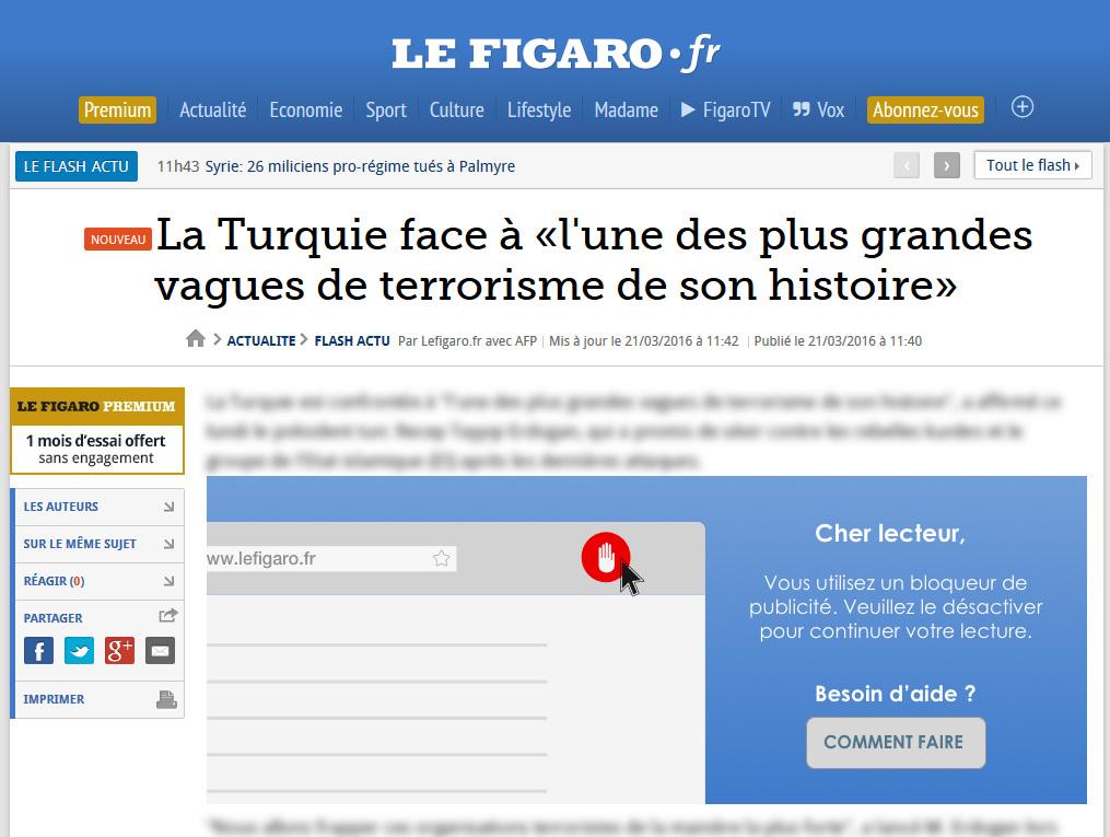 anti adblock Le Figaro