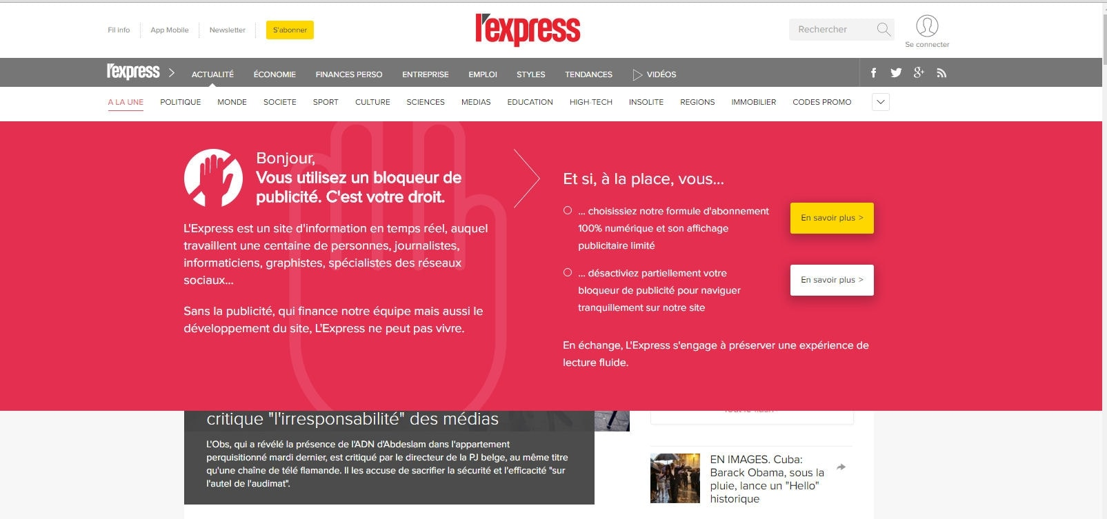 anti adblock lexpress