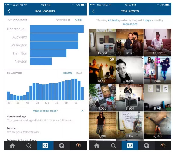 instagram analytics ios