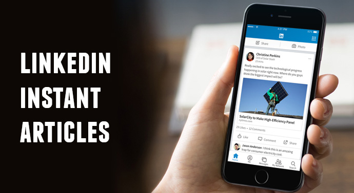 LlinkedIn Instant Articles