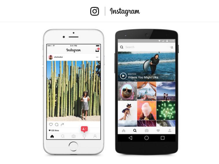 nouvelle application instagram