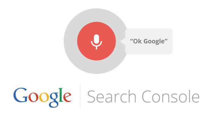 recherche vocale search console