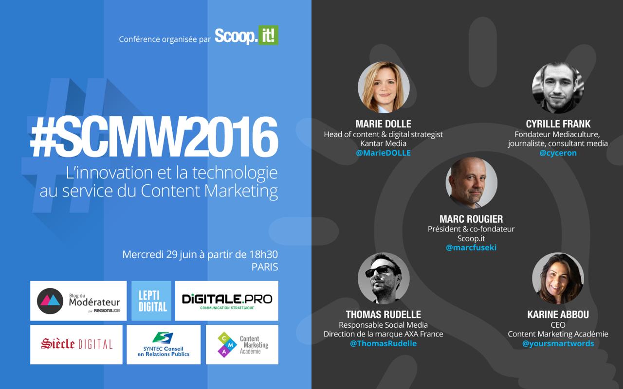 Conférence #SCMW2016