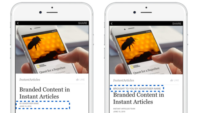 branded content instant articles