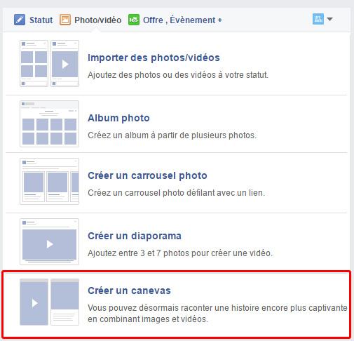 créer canvas facebook