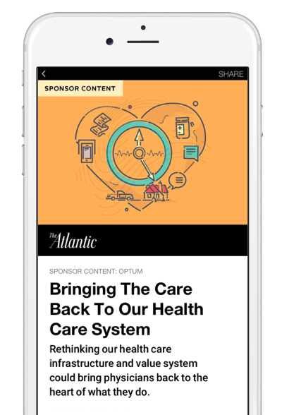 personnalisation Instant Articles the atlantic