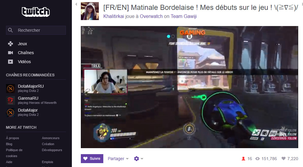 streaming overwatch twitch