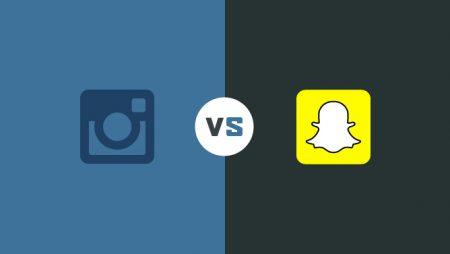 Instagram VS Snapchat en une infographie !