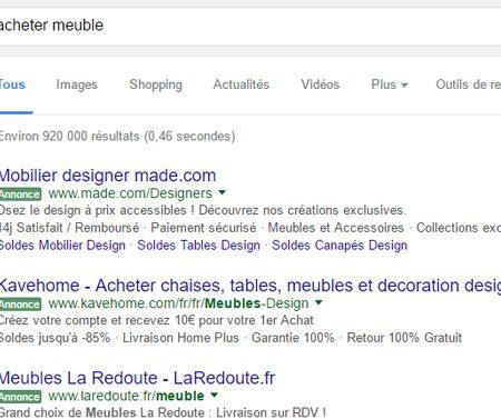 Label «Annonce» vert sur Google, quels impacts sur le taux de clic ?