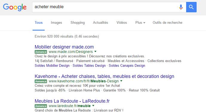 label vert annonce google
