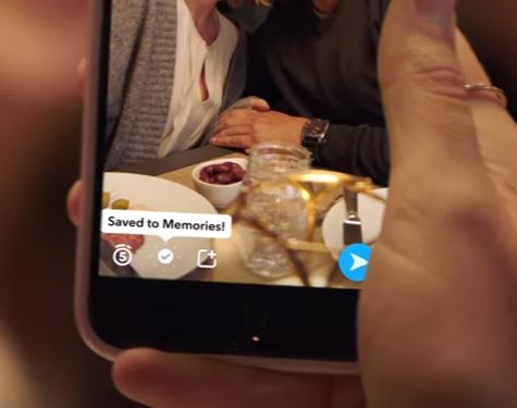 snapchat memories enregistrée