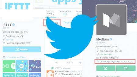 Tweets en vedette et horaires d'activité : 2 nouveautés Twitter
