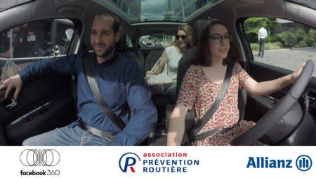Vidéo à 360 degrés sur Facebook, une expérience inédite proposée par Allianz et la Prévention Routière !