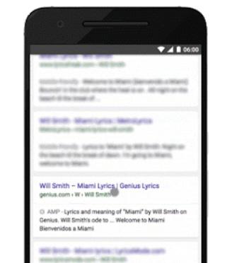 amp résultats google mobile
