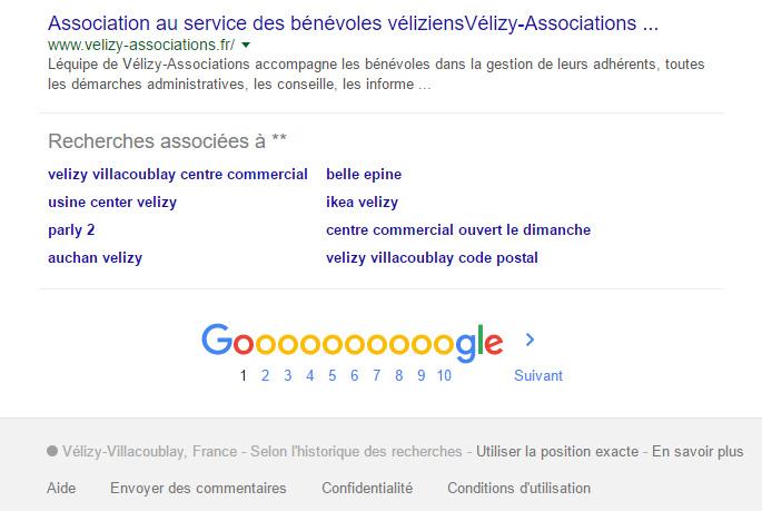commande recherche locale google