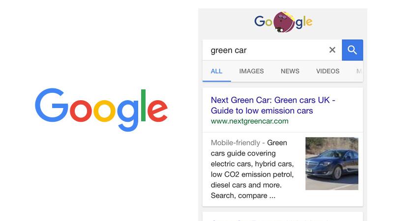 google affichage images serps