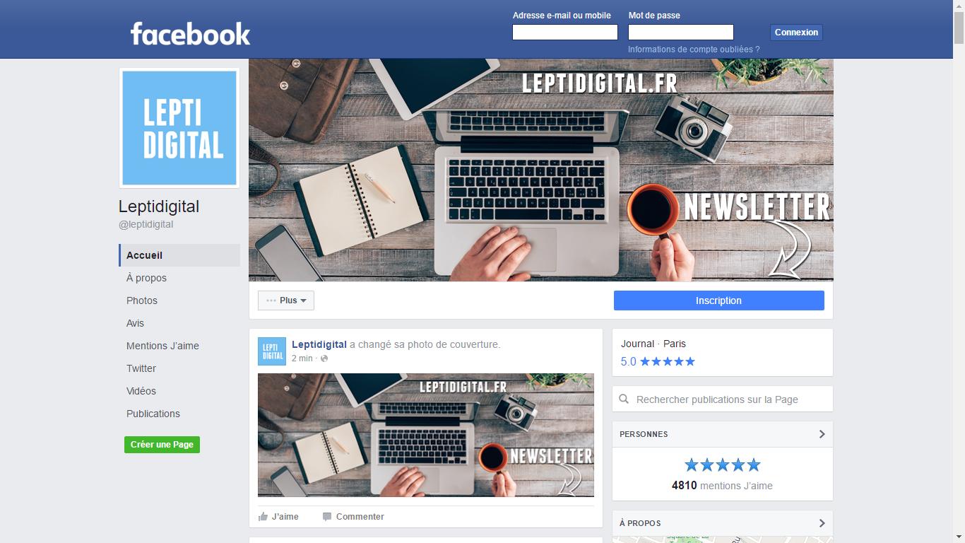 nouveau design page facebook 2016