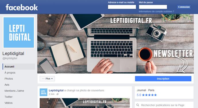 nouvelle page facebook 2016