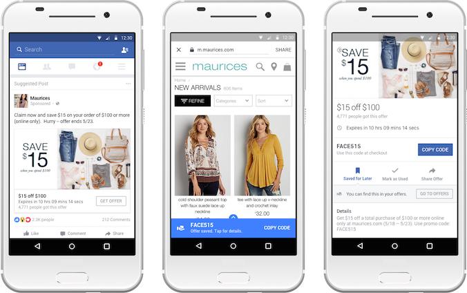 offres facebook nouveautés