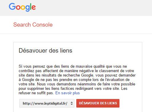 outil désaveu google