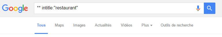 test commande locale google