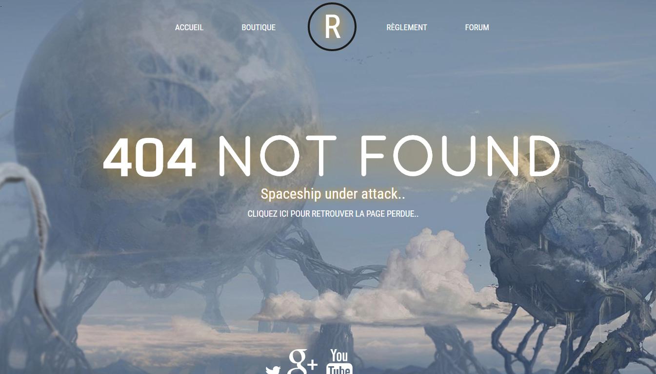 404 serveur en ligne