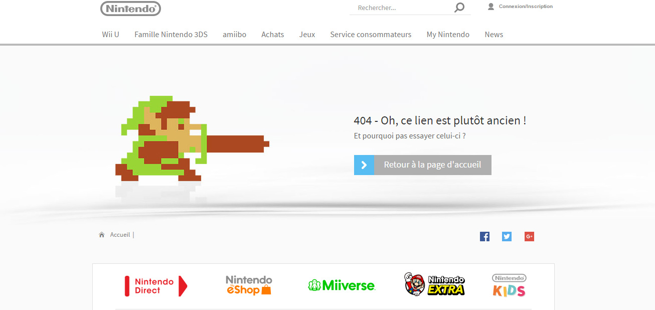 page 404 nintendo