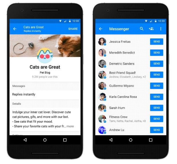 partager bot messenger facebook