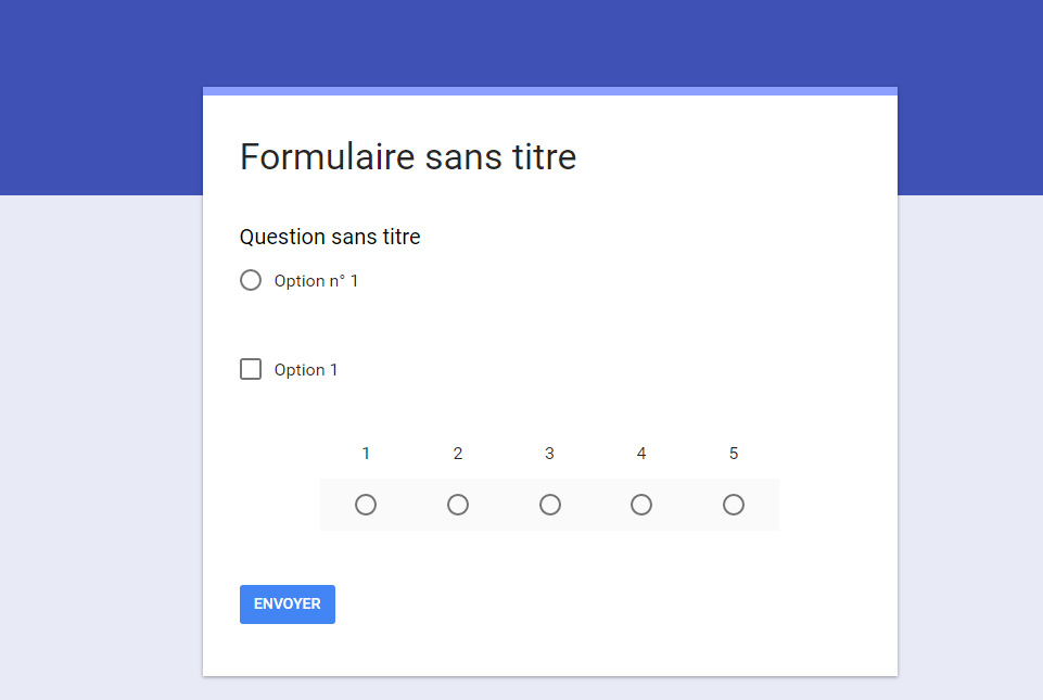 questionnaire google forms
