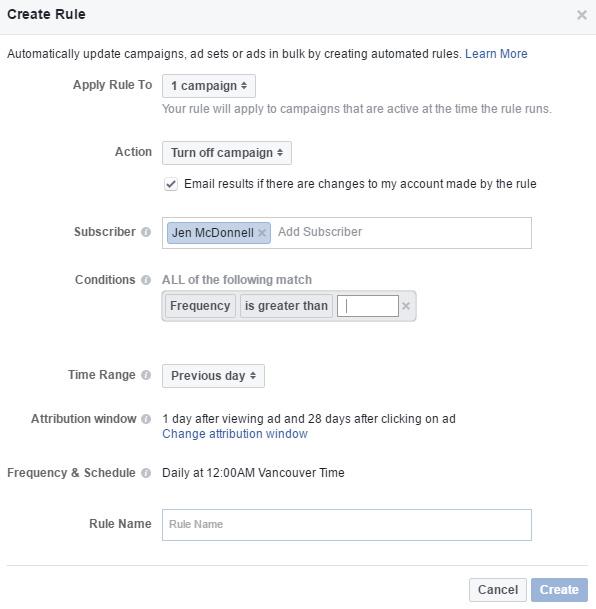 règles gestion publicités facebook