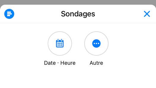sondage messenger appli