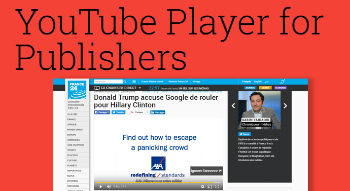 youtube player publishers