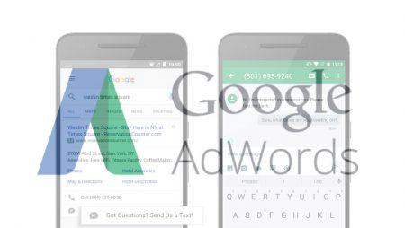 Click-To-Message : les extensions de message arrivent sur Google Adwords !