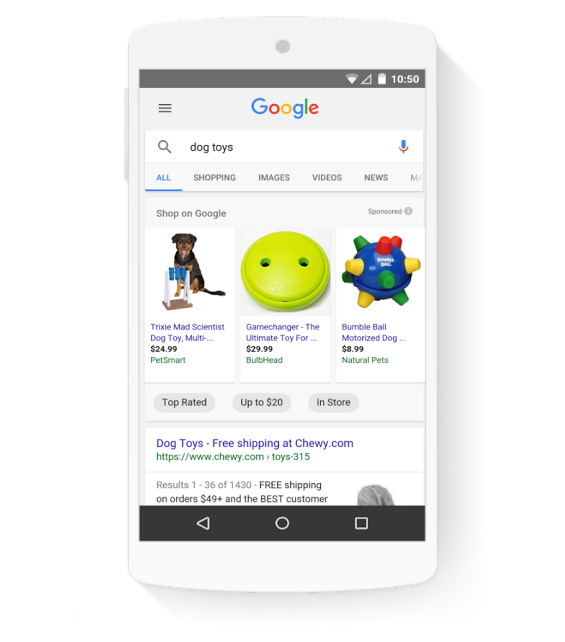 google shopping mobile